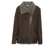 Barrett leather and shearling-trimmed suede jacket