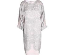 Printed silk-satin dress