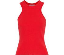 Stretch-knit Tank Tomato Red