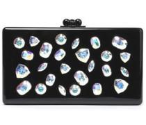 Crystal-embellished acrylic box clutch