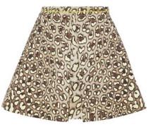 Leopard-print cotton-twill mini skirt