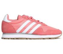 Suede-trimmed Neoprene Sneakers Pink