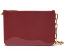 Glossed-leather Shoulder Bag Merlot Size --