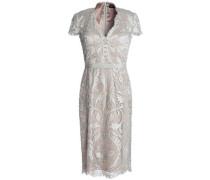 Appliquéd tulle dress