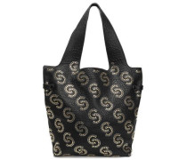 Studded Pebbled-leather Tote Black Size --