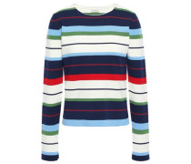 Striped Ribbed-knit Sweater Multicolor