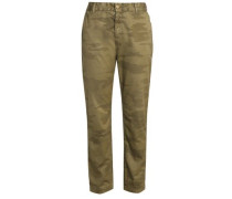 Cotton Tapered Pants Army Green  3