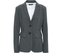 Wool-blend Blazer Dark Gray