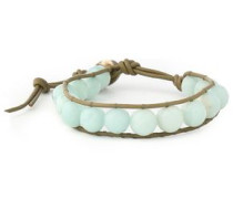 Leather amazonite bracelet