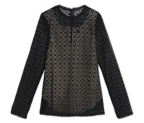 Crocheted cotton lace top