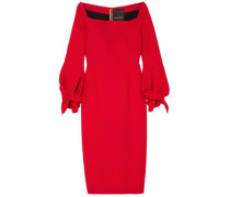 Mapplewell Bow-detailed Crepe Dress Tomato Red