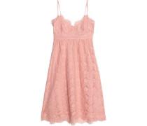 Corded lace cotton-blend dress