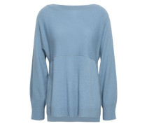Layered Wool And Cashmere-blend Sweater Light Blue