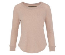 Mélange Cotton And Cashmere-blend Top Sand