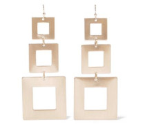 Brushed 22-karat Gold-plated Earrings Gold Size --