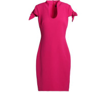 Bow-detailed crepe dress