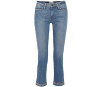 Studded Low-rise Slim-leg Jeans Mid Denim  3