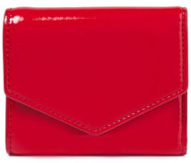 Woman Faux Patent-leather Wallet Red