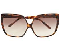 Woman Square-frame Tortoiseshell Acetate Sunglasses Light Brown