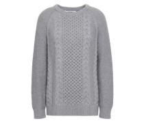 Cable-knit Wool And Cashmere-blend Sweater Gray
