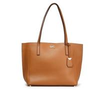 Textured-leather Shoulder Bag Tan Size --