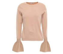 Fluted Merino Wool-blend Sweater Sand