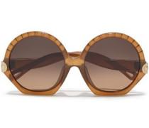 Woman Vera Round-frame Acetate Sunglasses Brown