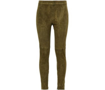 Roxanna Stretch-suede Leggings Army Green