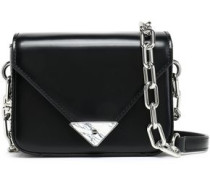 Glossed-leather shoulder bag