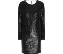 Open-back sequined chiffon top