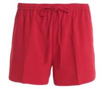 Gathered crepe shorts