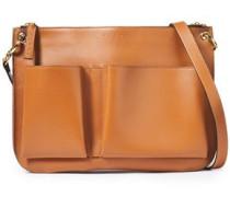 Woman Leather Shoulder Bag Brown