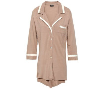 Pima Cotton And Modal-blend Jersey Nightshirt Light Brown