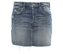 Distressed Denim Mini Skirt Mid Denim  4