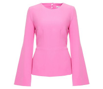 Woman Crepe Peplum Top Bubblegum