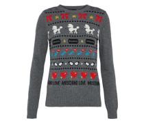 Metallic Jacquard-knit Sweater Anthracite