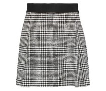 Cindie wrap-effect checked bouclé-tweed mini skirt