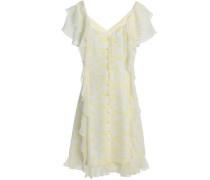 Georgia ruffled floral-print silk-chiffon dress