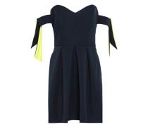 Off-the-shoulder Stretch-crepe Mini Dress Navy
