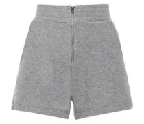 Woman Cotton And Cashmere-blend Jersey Shorts Dark Gray