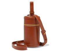 Canister Leather Shoulder Bag Tan Size --