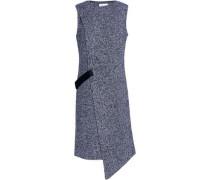 Ribbed-wool wrap dress