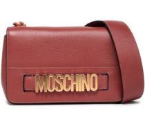 Textured-leather Shoulder Bag Antique Rose Size --