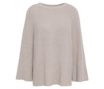 Ribbed Cotton-blend Sweater Stone