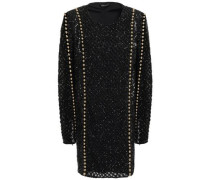 Embellished Tulle Mini Dress Black