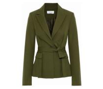 Tie-back cotton-blend twill blazer