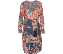 Cheyenne printed cotton-blend crepe de chine dress