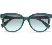 D-frame Acetate Sunglasses Teal Size --