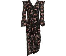 Alice off-the-shoulder floral-print devoré-chiffon maxi dress