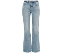 Harley Mid-rise Flared Jeans Light Denim  5